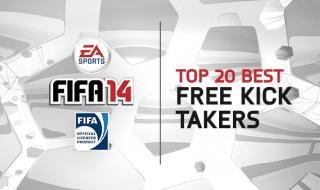Los 20 mejores lanzadores de faltas de FIFA 14