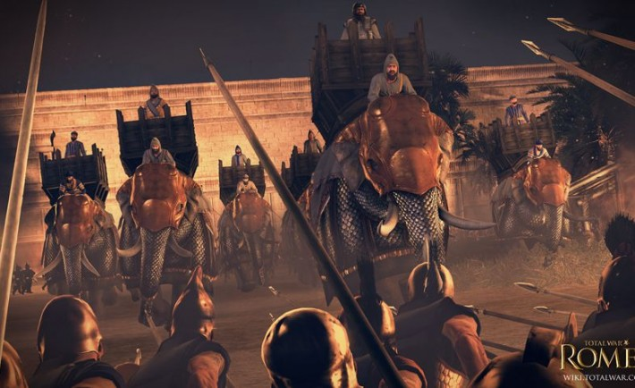 TWRII_Seleucid_armoured_elephant_charge