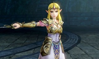 La princesa Zelda repartiendo galletas en Hyrule Warriors