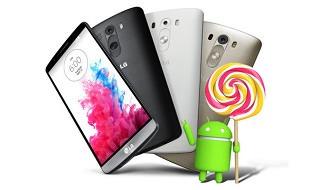 Android 5.0 Lollipop llega al LG G3