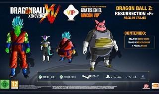 """Nuevos trajes para Dragon Ball Xenoverse basados en la película """"Ressurrection F"""""""