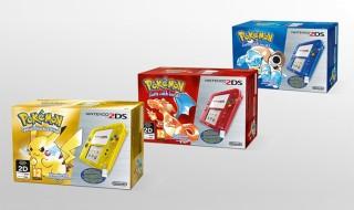 Tres nuevos packs de Nintendo 2DS con Pokémon llegarán el 27 de febrero