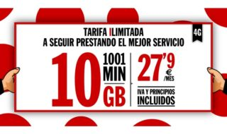 Pepephone presenta su nueva tarifa limitada de 10GB de datos y 1001 minutos en llamadas