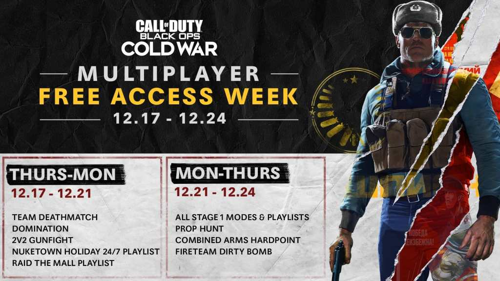 Call of Duty: Black Ops Cold War - Free week multiplayer