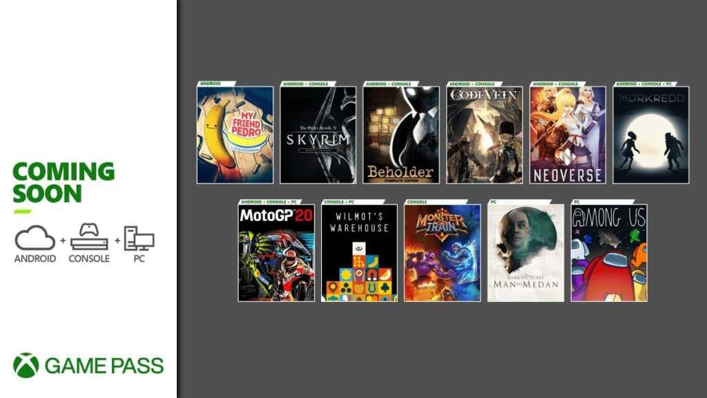 Xbox Game Pass - Diciembre 2020