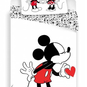 Dekbedovertrek Mickey Mouse Heart