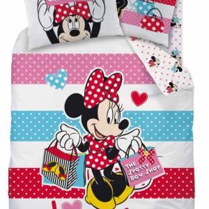 Minnie Mouse Flanellen Dekbedovertrek 140x200cm