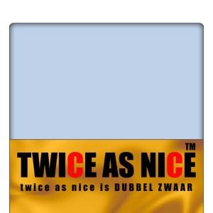 A-Keuze - Hoeslakens Jersey Twice as Nice Blauw-160/180 x 200 cm