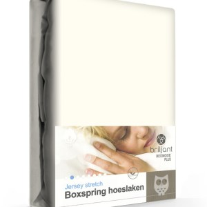A-Keuze - Boxspring/Waterbed Hoeslaken Jersey Ecru-90 x 200 cm