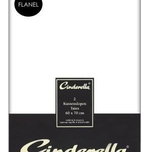 Flanellen Cinderella Kussenslopen Wit (2 stuks)