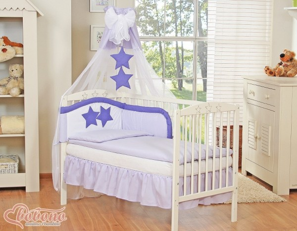 3-Delig Bedset Collection of Stars Voile/Katoen Paars