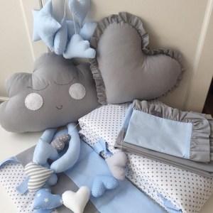 Wolk Kussen Happy Grijs-Blauw Dolly