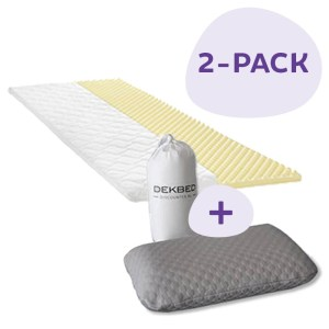 2-PACK Travel Topmatras & Reiskussen 90 x 200