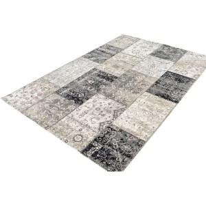 Lifa Living Vloerkleed - Patchwork - Donker Grijs 200 x 290 cm