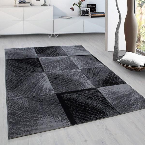 Vloerkleed - Square - Rechthoek - Zwart Plus Ruiten 80 x 150 cm - Ga naar Dekbed-Discounter.nl & Profiteer Nu