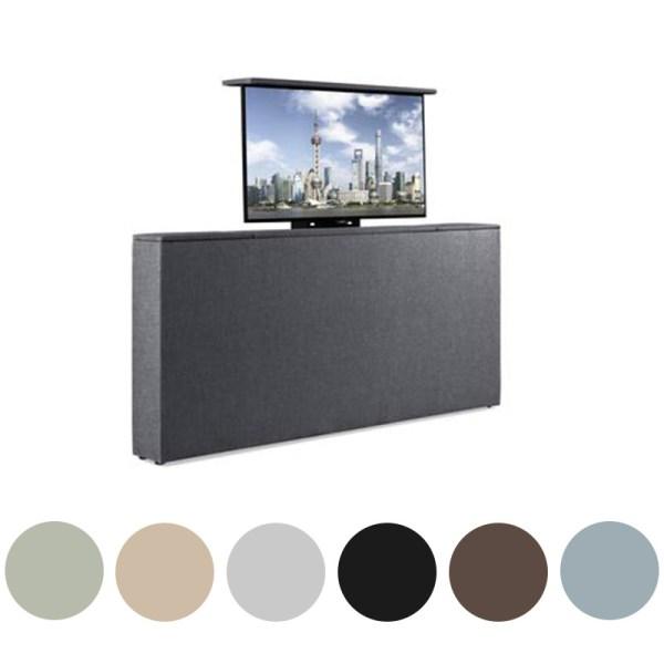 Voetbord Met TV-Lift - Stof 140 cm