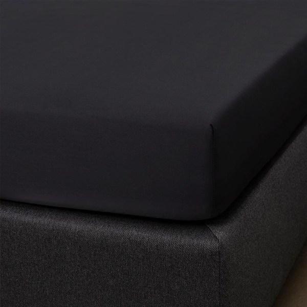 Hoeslaken Katoen-satijn - 90x200 cm - Zwart - Signature - Ga naar Dekbed-Discounter.nl & Profiteer Nu