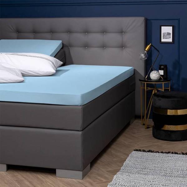 Jersey Hoeslaken - Egyptisch Katoen - 180x200/210/220 cm - Blauw - Presence - Ga naar Dekbed-Discounter.nl & Profiteer Nu