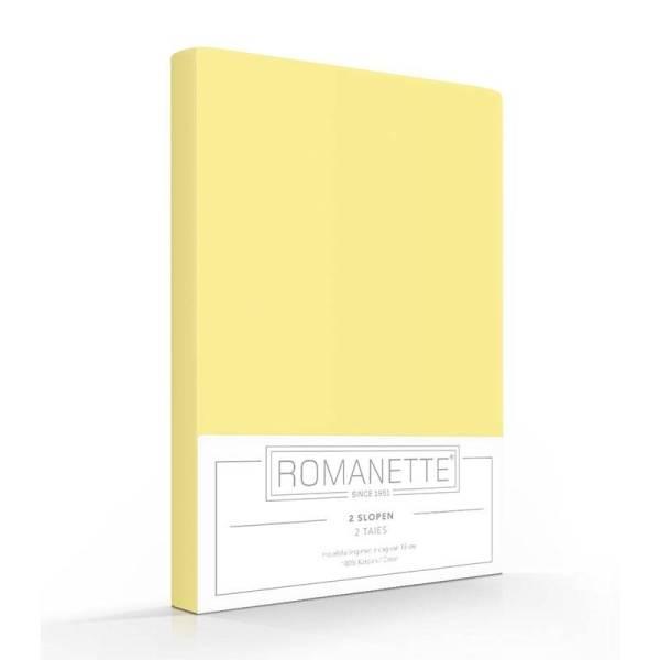 1+1 Gratis - Romanette Kussenslopen - Geel Romanette - Ga naar Dekbed-Discounter.nl & Profiteer Nu