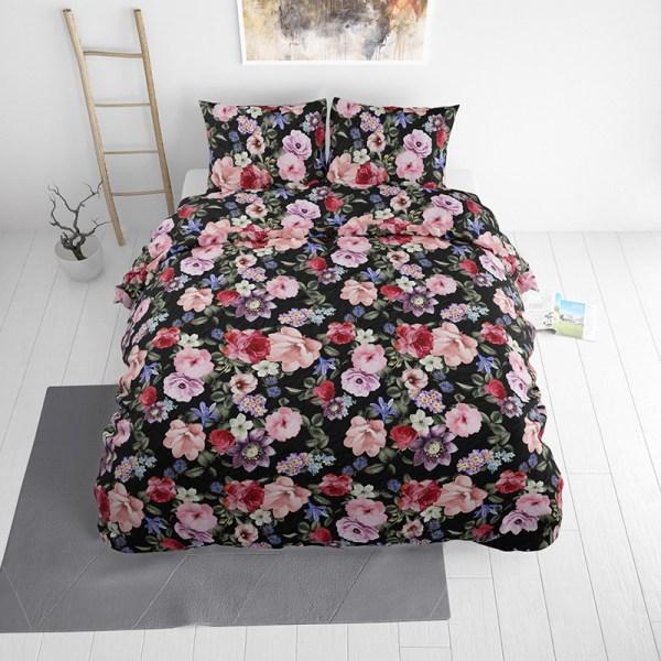 Dekbedovertrek Floral Fantasy 1-persoons (140x220 cm) - Katoen - Bloemen - - Ga naar Dekbed-Discounter.nl & Profiteer Nu