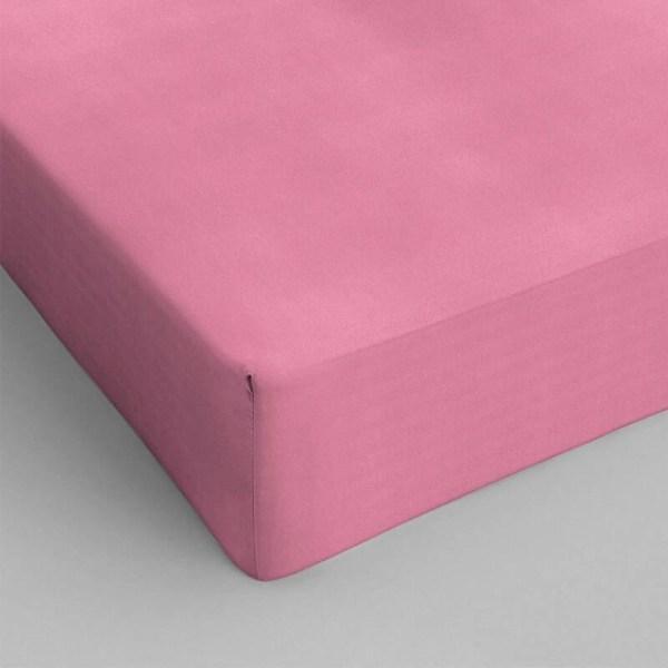 1+1 Gratis - Hoeslakens Katoen - Roze Dekbed Discounter 70 x 200