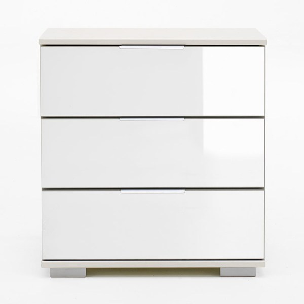 Nachtkastje - Wit - Glas Wit Easy Plus - Ga naar Dekbed-Discounter.nl & Profiteer Nu