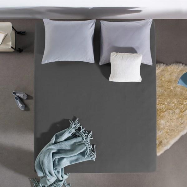 Home Care HC Dubbel Jersey Hoeslaken - Antraciet 160/180 x 200 cm