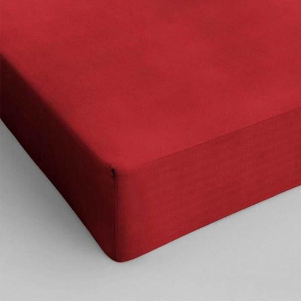 DreamHouse Bedding 2-PACK Verkoelende Hoeslakens Katoen - Rood 120 x 200