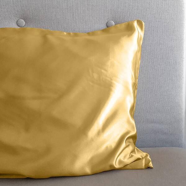 Zijde Geweven Kussensloop - Gold Sleeptime Elegance Effen - Ga naar Dekbed-Discounter.nl & Profiteer Nu
