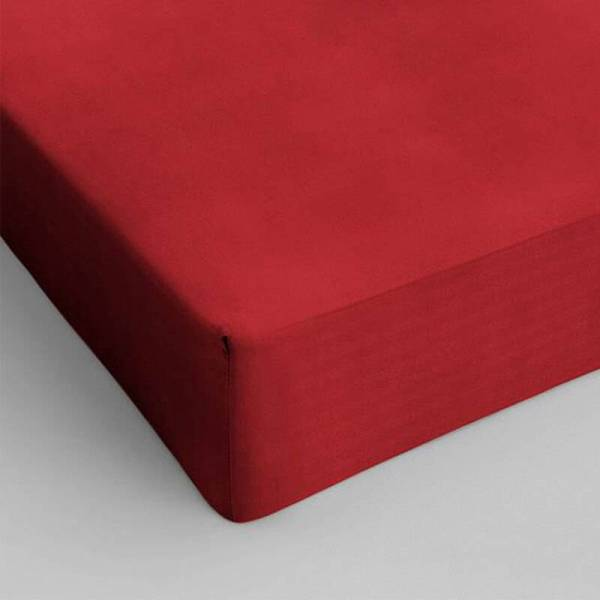 Hoeslaken Katoen - 70x200 cm - Rood - DreamHouse Bedding - Ga naar Dekbed-Discounter.nl & Profiteer Nu