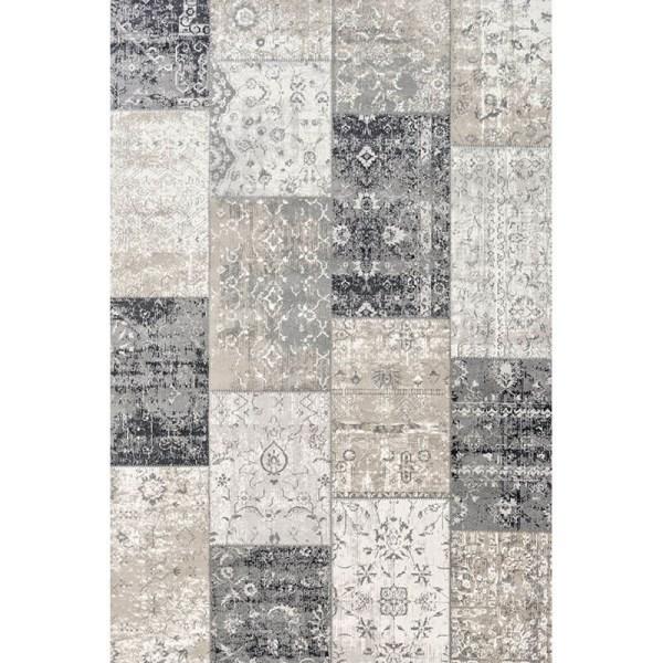 Vloerkleed - Patchwork - Donker Grijs Lifa Living Patroon 80 x 150 cm - Ga naar Dekbed-Discounter.nl & Profiteer Nu