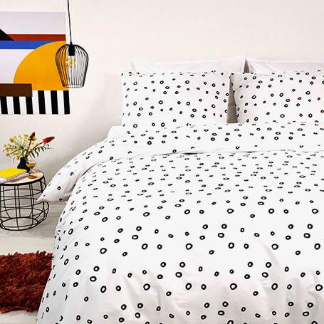 Dekbedovertrek Luxurious Dots 1-persoons (140x200/220 cm) - Katoen - Patroon