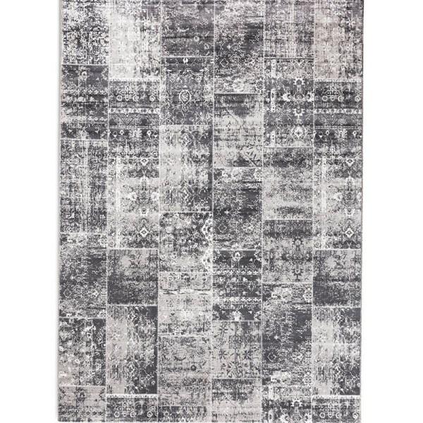 Vloerkleed - Patchwork - Grijs Lifa Living Patroon 80 x 150 cm - Ga naar Dekbed-Discounter.nl & Profiteer Nu