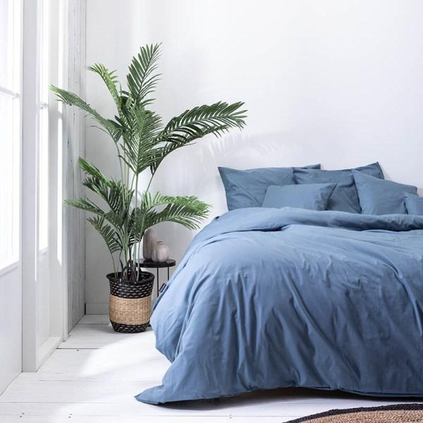 Presence Plain Percale - Donkerblauw 2-persoons (200 x 240 cm + 2 kussenslopen) Dekbedovertrek