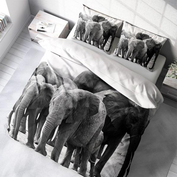 Dekbedovertrek Elephant Crew 1-persoons (140x200/220 cm) - KatoenKatoen-satijnKatoen - Dieren - Blauw