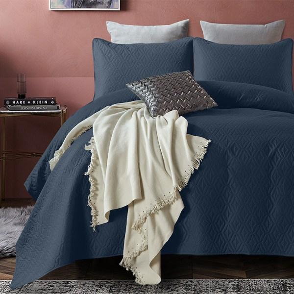 Bedsprei Madison - Navy DreamHouse Bedding Patroon 180 x 250 + 1 kussensloop - Ga naar Dekbed-Discounter.nl & Profiteer Nu