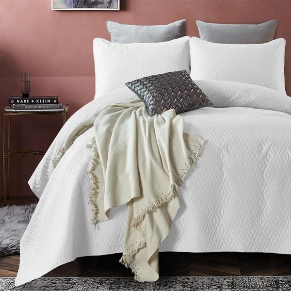Madison - Wit DreamHouse Bedding Patroon 180 x 250 + 1 kussensloop - Ga naar Dekbed-Discounter.nl & Profiteer Nu
