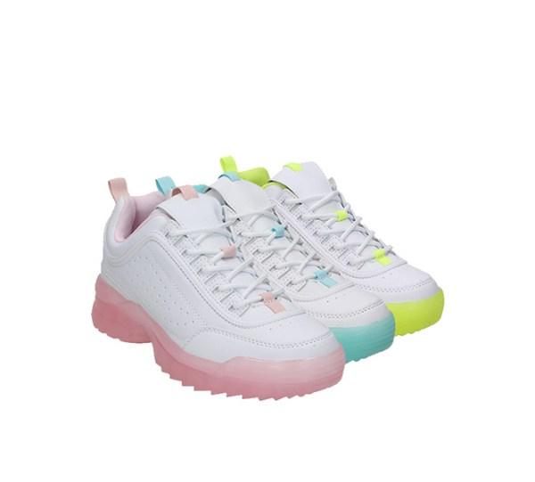 Trendy Dames Sneakers met Dikke Zool Claudia Ghizzani Kleur: Geel