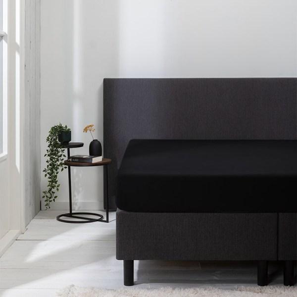 Jersey Hoeslaken - 80/90x200/210/220 cm - Zwart - Luna Bedding - Ga naar Dekbed-Discounter.nl & Profiteer Nu