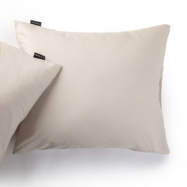 1+1 Gratis - Kussenslopen Percale Uni - Off White Presence Effen 60 x 70 cm - Ga naar Dekbed-Discounter.nl & Profiteer Nu