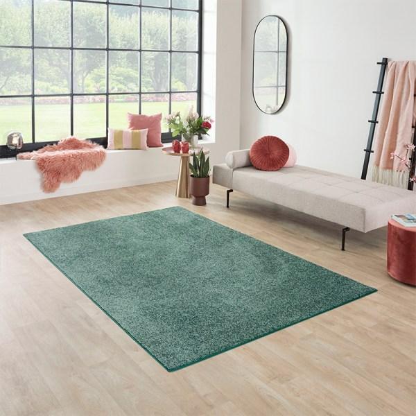 Vloerkleed Santa Fe - Groen Olive Effen 57 x 150 cm - Ga naar Dekbed-Discounter.nl & Profiteer Nu