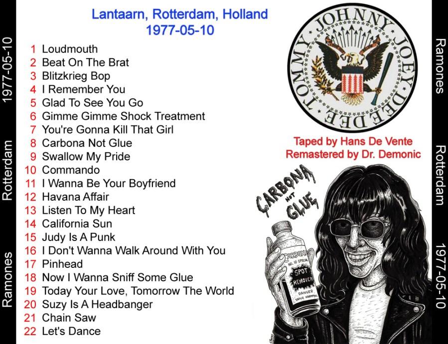 ramones-lantaarn-setlist-cassette
