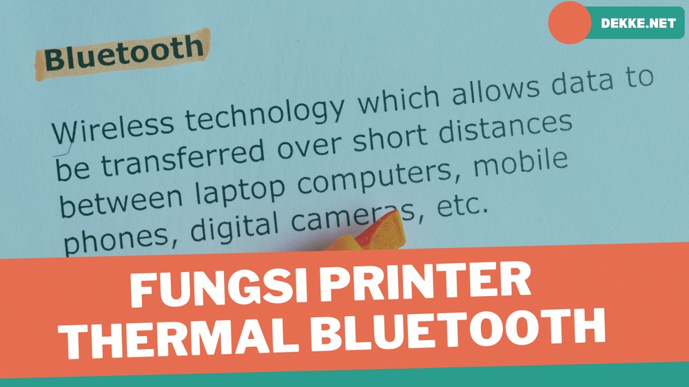 alat Printer Thermal Bluetooth