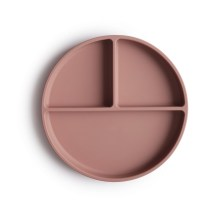 Mushie – Silicone Plate | Cloudy Mauve