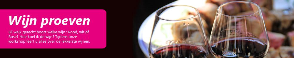 Culinair evenement wijn proeven