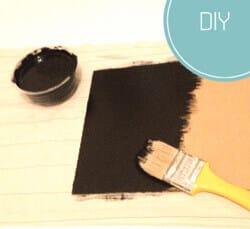 Kara tahta boya yapımı