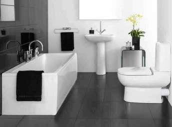 Siyah banyo dekoru