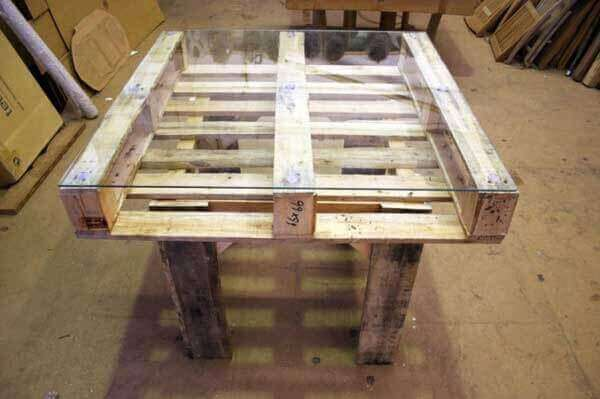 paletten masa sandalye