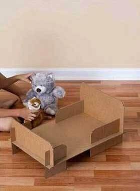 Kartondan bebek yatağı yapılışı