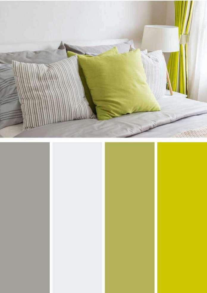 Antrasit rengi ile uyumlu renkler fıstık yeşili